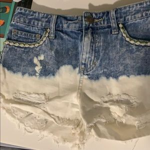 Free people denim fade shorts size 24